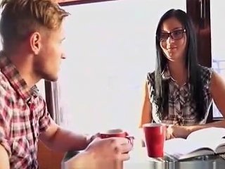 Decent Honey In Glasses Goes Nasty When That Honey Sees Cock