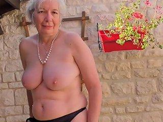 Granny From Uk Caroline Feeding Her Old Cunt Free Porn D1