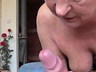 German Older Mature Woman Fucks Young Neighbor Amateur