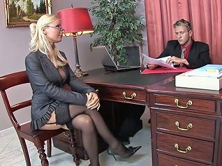 Sex Appeal Secretary In Stockings Helena Sweet Makes Her Boss Relaxing