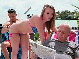 Harley Jade Doesn't Give A Fuck And Cheats Of Her Older Hubby With A Strong Stud