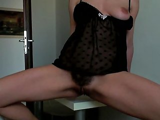 Having A Orgasm On Kitchen Table