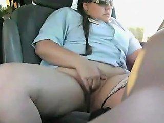 Fat Bbw Hotel Employee Masturbating During Her Lunch