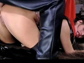 Leather Fetish Fffm Foursome Packed With Blowjobs And Anal Sex