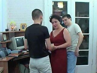 A Fun Night Is Three Guys Fucking A Milf On Her Floor