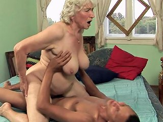 Lewd Granny Rides A Big Hard Cock And Gets Jizzed