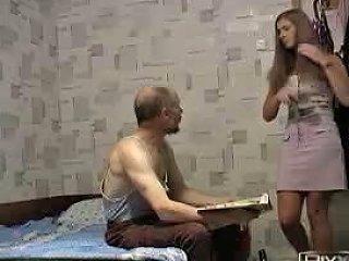 Grandpa Fucks Girl In Pink Skirt Free Porn Af Xhamster