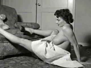 1950's Brunette Girl Next Door Free Big Tits Porn Video 11