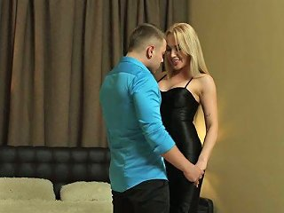 Slutty Blonde With Perky Fake Boobs Alexa Gives Her Head And Gets Fucked For Cash