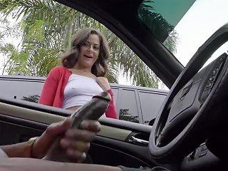 Dick Flash Cute Teen Gives Me Hand Job In Public Parking Lot After She Sees My Big Black Cock