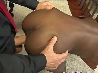 Black Teen Rides Stepdad Naked