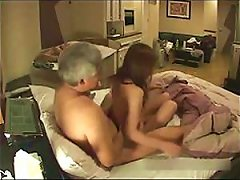 Hidden Cam Catches A Slutty  Teen Getting Fucked By An Old Man