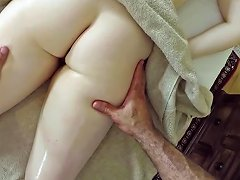 Massage For Naive Redhead Babe
