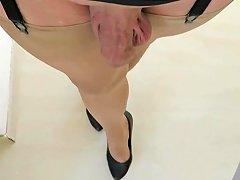 Walking Bitch Nylon Bitch Spank The Ass Shemale Porn 05