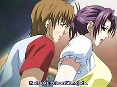 Beautiful Anime Milf Gets 2 Cocks To Suck And Fuck - Hentai Threesome