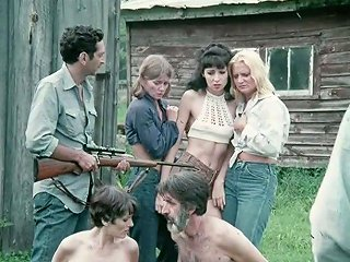 Three Young Retro Country Girlfriends Are Having Classic Hardcore Group Fuck