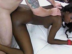 Ebony Nymph Loves White Schlongs