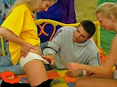 Hilarious Blond Teens Take A Chance To Suck A Strong Hot And Big Cock Ffm