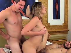 Hot Big Tits Mature Shemale Gets Her Ass Barebacked Well
