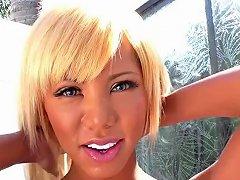 Blonde Ladyboy Miran Seduces A Lucky Guy