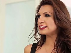 Stunning Latina Transsexual Lady Plows Young Babe Hard