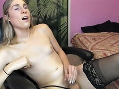 Cutie Cums On Her Belly