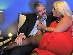 Kinky Dude In Pantyhose Fucks Bodacious Woman Alura Jenson Anysex Com Video